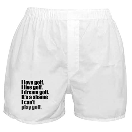 'Can't Play Golf' Boxer Shorts