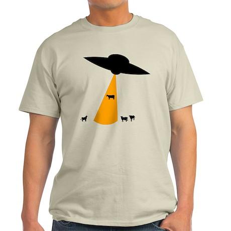 UFO Abducting Cow Light T-Shirt
