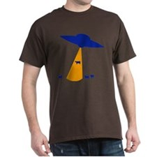 UFO Abducting Cow T-Shirt