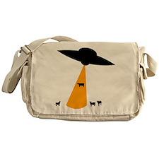 UFO Abducting Cow Messenger Bag