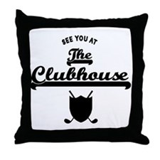 'The Clubhouse' Throw Pillow
