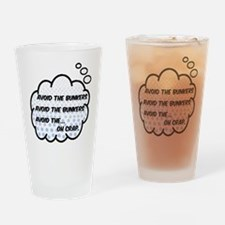 'Avoid The Bunkers' Drinking Glass