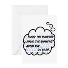 'Avoid The Bunkers' Greeting Card