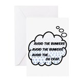 Avoid the bunkers Greeting Cards (10 Pack)