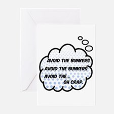 'Avoid The Bunkers' Greeting Cards (Pk of 10)