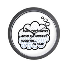 'Avoid The Bunkers' Wall Clock