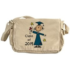 Stick Figure Girl Grad 2014 Messenger Bag
