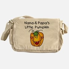 Nana and Papa's Pumpkin Messenger Bag