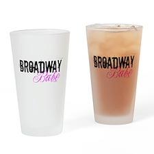 Broadway Babe Drinking Glass