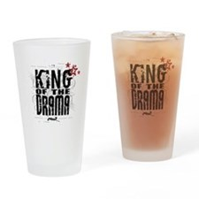 King of the Drama Drinking Glass