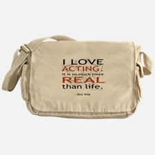 Oscar Wilde Quote on Acting Messenger Bag