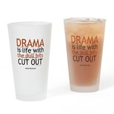 Alfred Hitchcock Quote on Dra Drinking Glass