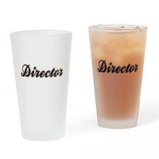 Director Baseball Drinking Glass