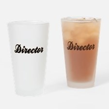 Director Baseball Drinking Glass