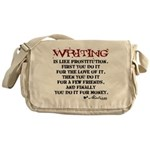 Moliere Writing Quote Messenger Bag