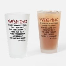 Moliere Writing Quote Drinking Glass