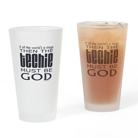 Techie God Drinking Glass