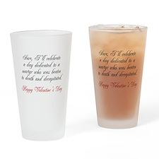 Martyr Valentine Drinking Glass