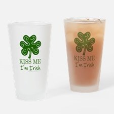 Kiss Me I'm Irish Drinking Glass