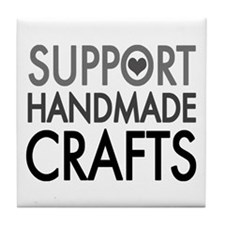 'Support Handmade Crafts' Tile Coaster