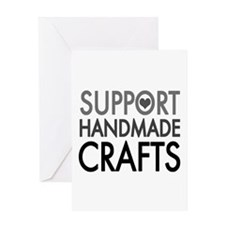 'Support Handmade Crafts' Greeting Card
