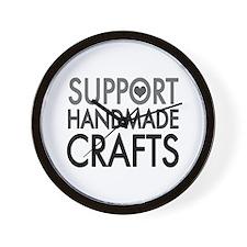 'Support Handmade Crafts' Wall Clock