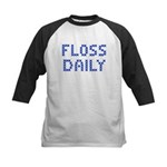 'Floss Daily' Kids Baseball Jersey