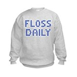 'Floss Daily' Kids Sweatshirt