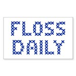 'Floss Daily' Sticker (Rectangle 10 pk)
