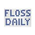 'Floss Daily' Rectangle Magnet (10 pack)