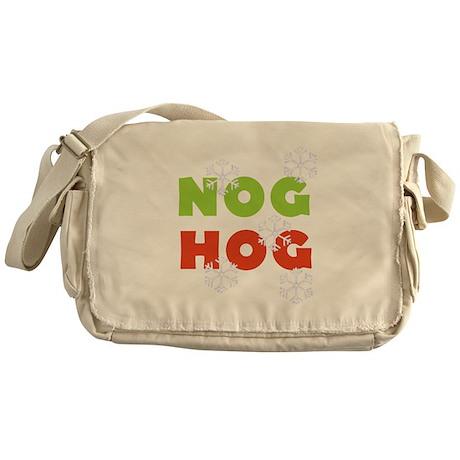 Nog Hog Christmas Messenger Bag
