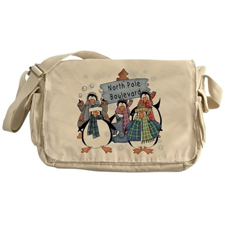 North Pole Penguins Messenger Bag