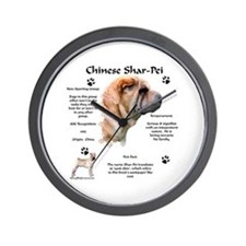 SharPei 1 Wall Clock