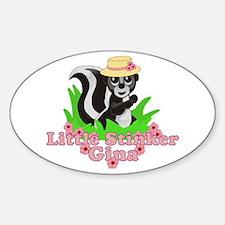 Little Stinker Gina Sticker (Oval)