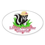 Little Stinker Gloria Sticker (Oval 10 pk)