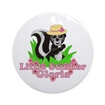 Little Stinker Gloria Ornament (Round)