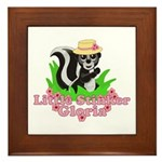 Little Stinker Gloria Framed Tile