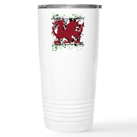 Red Welsh Dragon Stainless Steel Travel Mug