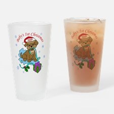 Baby's 1st Christmas Drinking Glass