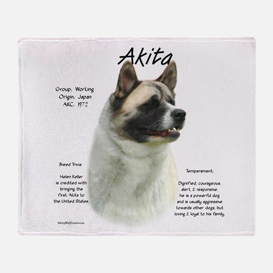 Akita (pinto) Throw Blanket