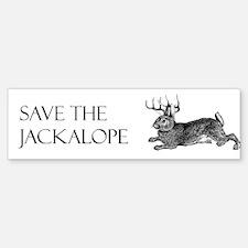 Save the Jackalope Bumper Bumper Bumper Sticker
