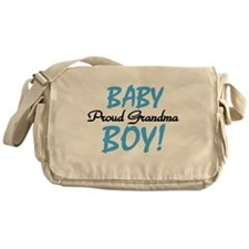 Baby Boy Proud Grandma Messenger Bag