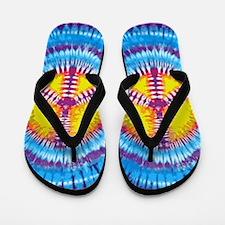 Purple Peace Flip Flops