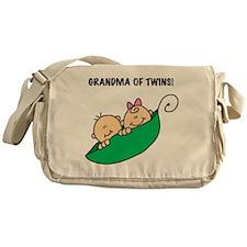 Grandma of Twins Messenger Bag