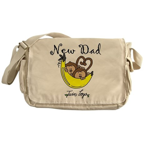 New Dad of Twin Boys Messenger Bag
