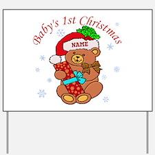 Baby's 1st Christmas Yard Sign