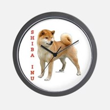 Shiba 2 Wall Clock