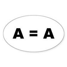 A = A Oval Decal