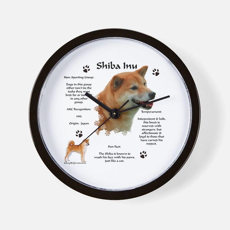 Shiba 1 Wall Clock