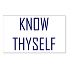 Know Thyself Rectangle Decal